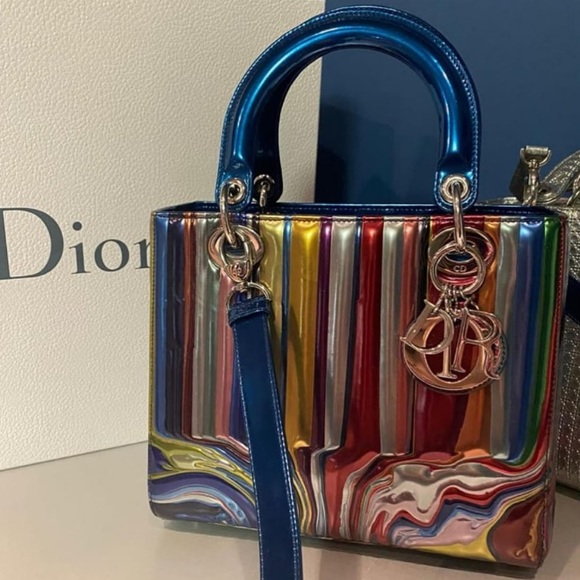 Dior lady Dior medium multicolor blue